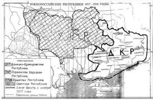 Карта границ Украины 1917 год