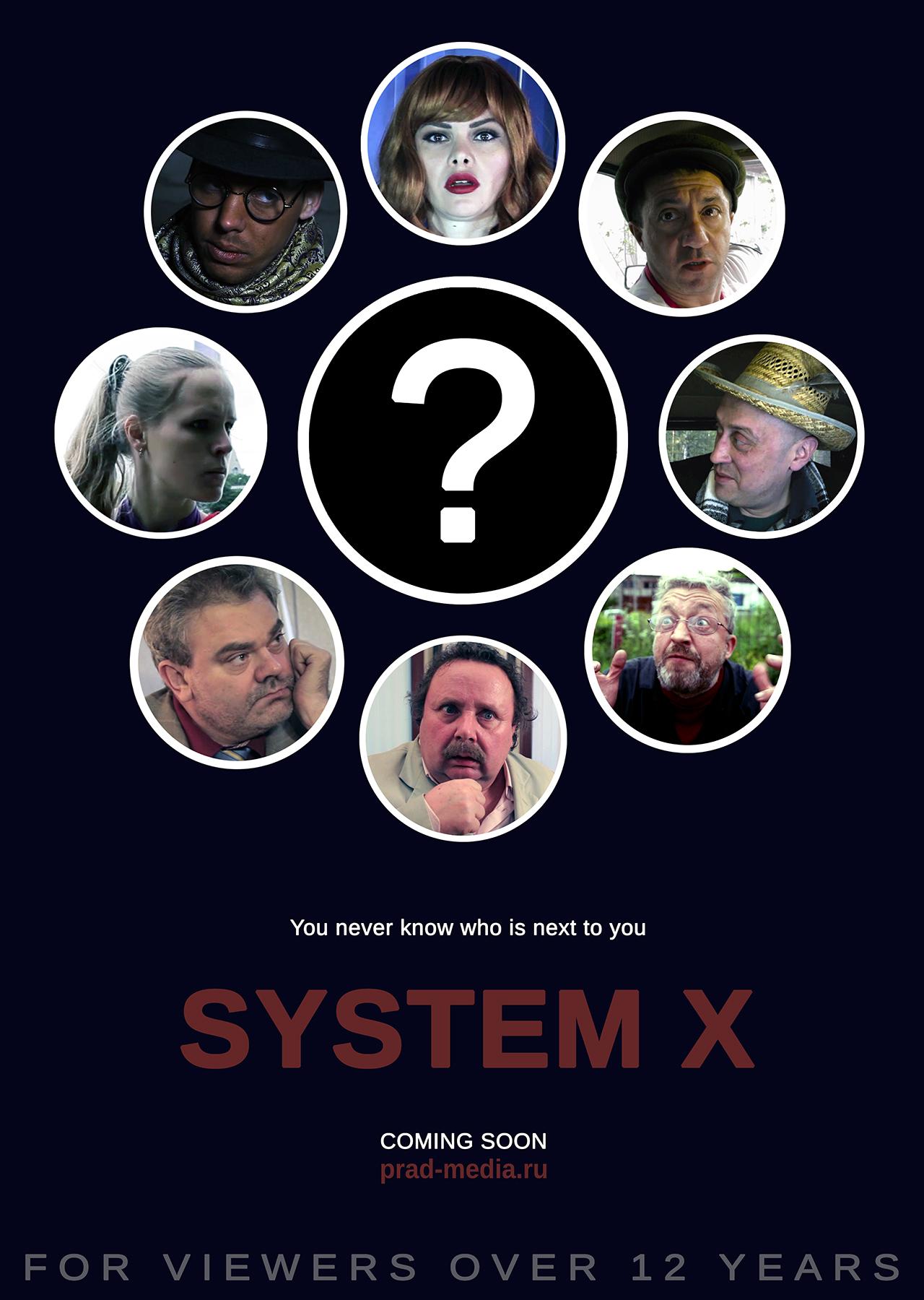 System x, comedy, film, serias, poster