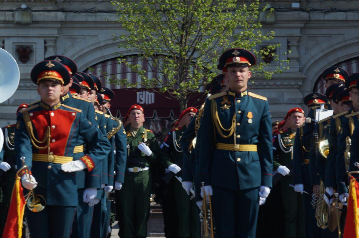 Парад Победы, военный, оркестр, Красная площадь, 2019, 9 мая